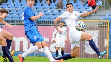 Lech Poznań - Pogoń Szczecin 0:0 w sparingu rozegranym we Wronkach. Krzysztof Gładosz i Wojciech Golla