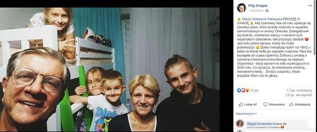 Zygmunt Chajzer zaopiekował się czworgiem osieroconych dzieci. Potrzebuje pomocy