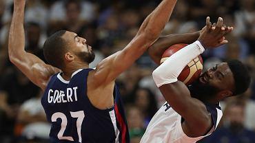 MŚ w koszykówce: mecz USA - Francja. Rudy Gobert i Jaylen Brown