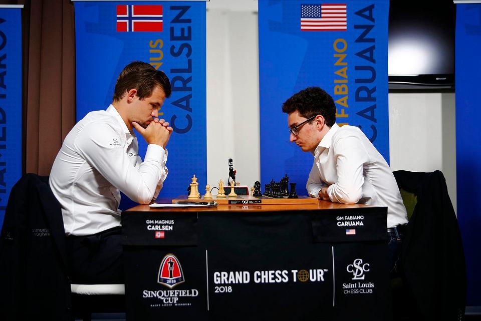 Magnus Carlsen i Fabiano Caruana