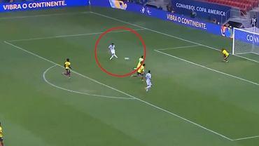 Fatalne pudło Lautaro Martineza w meczu Argentyna - Kolumbia