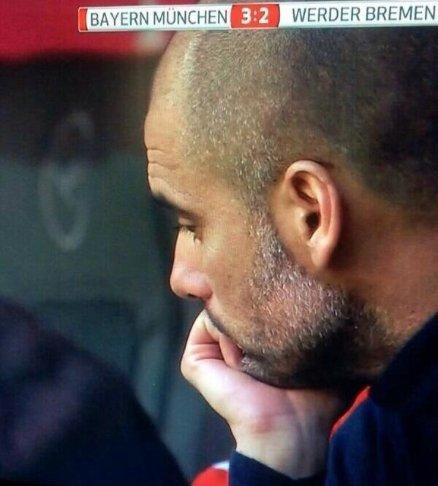 Pep Guardiola po trzecim golu dla Bayernu