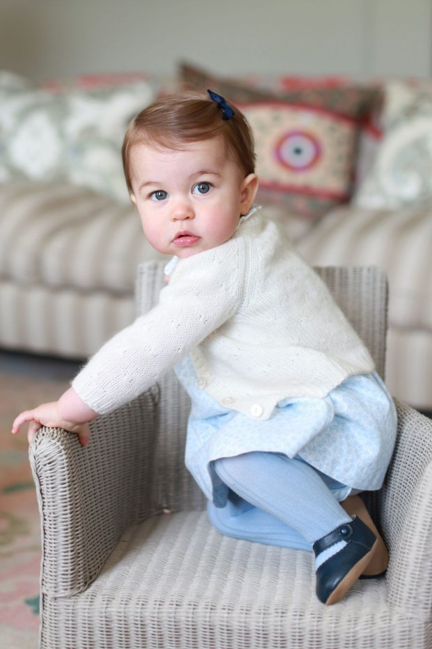 In this undated handout photo released on Sunday, May 1, 2016 by Kensington Palace, Britain
