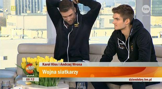 Andrzej Wrona i Karol Kłos w DDTVN