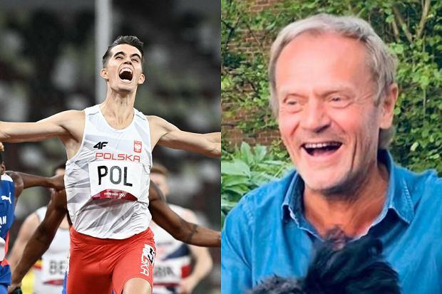 Pierwsze złoto dla Polski igrzysk olimpijskich w Tokio zdobyli nasi lekkoatleci. Sztafeta mieszana 4x400 m nie dała szans rywalom. Finałową rywalizację obserwował Donald Tusk.