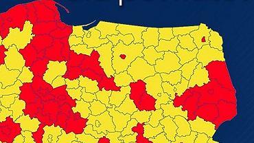 Koronawirus. Polska podział na strefy żółtą i czerwną