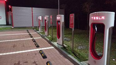 Tesla - stacja ładowania samochodów w Katowicach