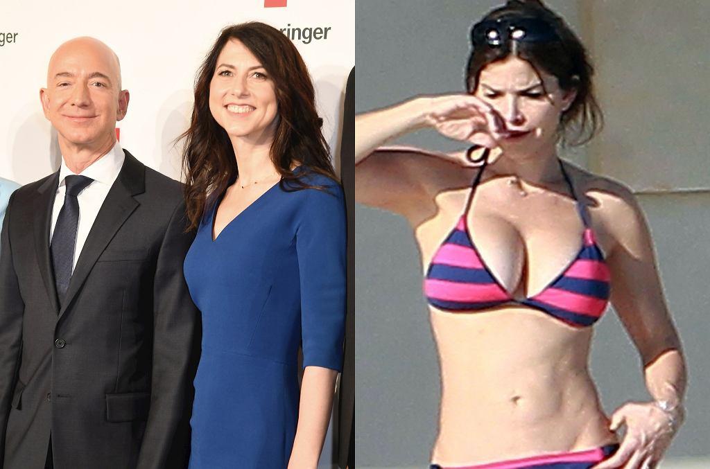 Jeff Bezos, MacKenzie Bezos. Lauren Sanchez