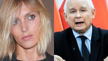 Anja Rubik, Jarosław Kaczyński