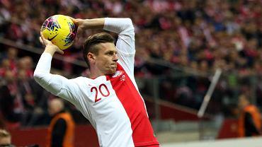 Łukasz Piszczek w meczu Polska - Słowenia