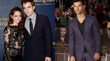 Kristen Stewart i Robert Pattinson, Taylor Lautner.