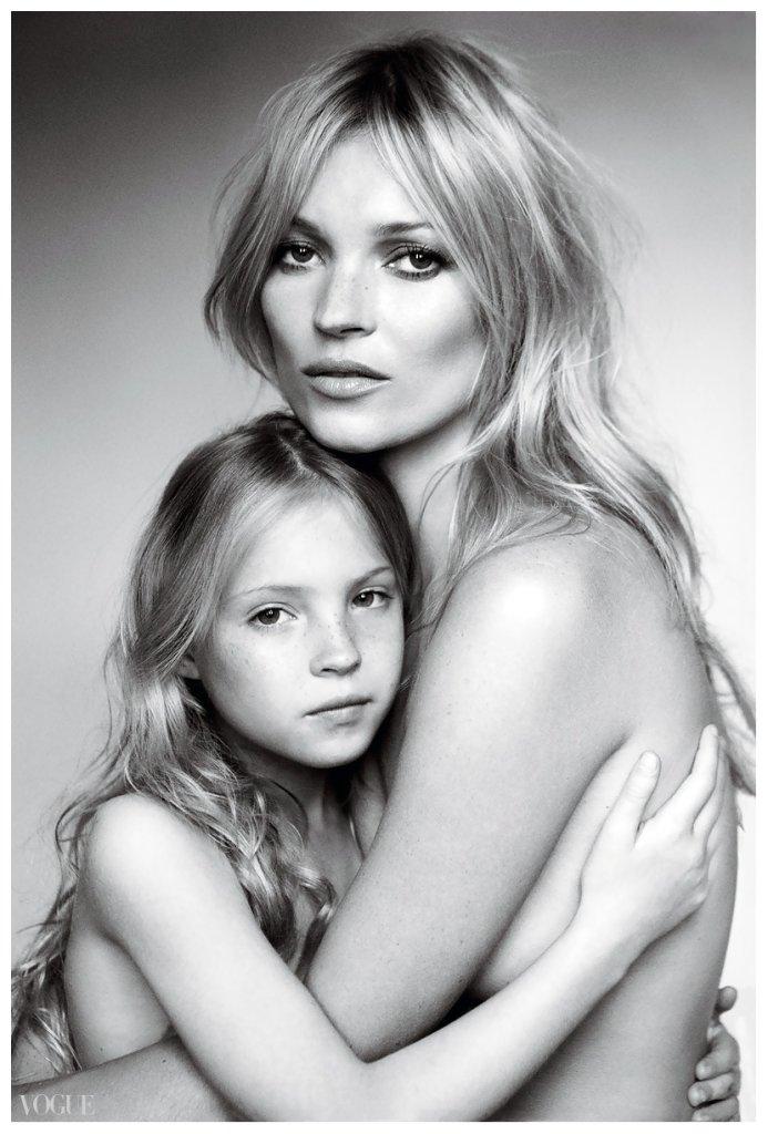 Kate Moss z córką w sesji dla 'Vogue US', wrzesień 2011