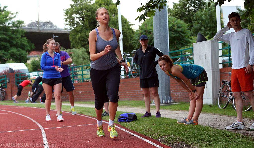 Wspólne trenowanie naszych blogerek i blogerów, debiutujących w jesiennym maratonie.