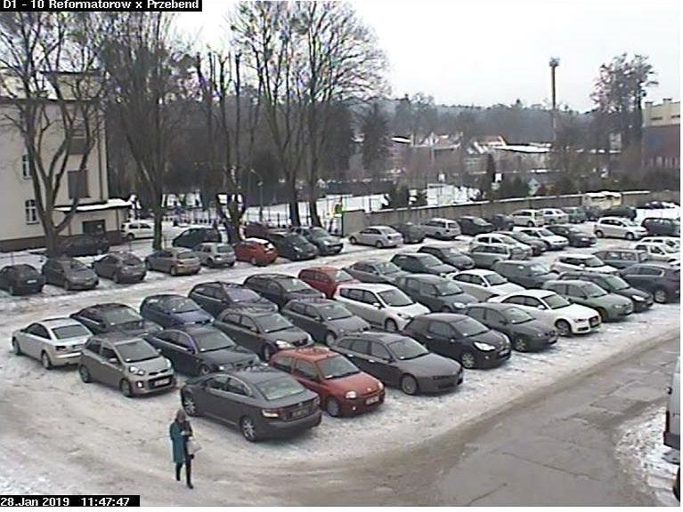 Kierowcy zablokowali się na parkingu w Wejherowie