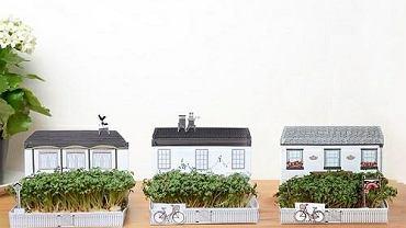 MATCHCARDEN to seria tekturowych domków i kamienic z malutkimi ogrodami
