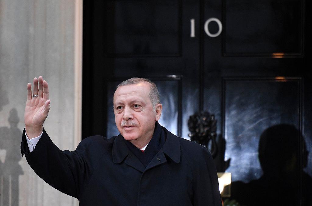 Recep Erdogan na szczycie NATO w Londynie.