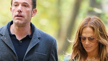 Jennifer Lopez i Ben Affleck w parku
