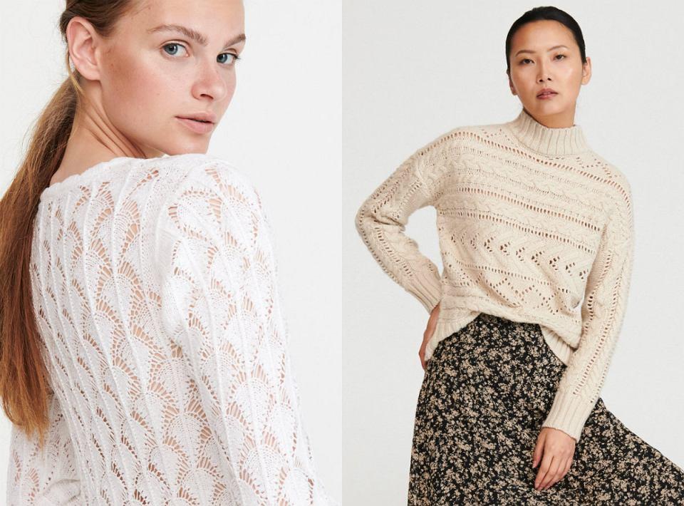 Ażurowe swetry z sieciówek