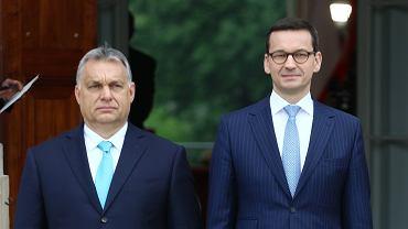 Premier Mateusz Morawiecki i premier Węgier Viktor Orban podczas spotkania w Warszawie