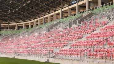 Stadion w Tychach czeka na otwarcie - stan na 26 czerwca 2015 r.