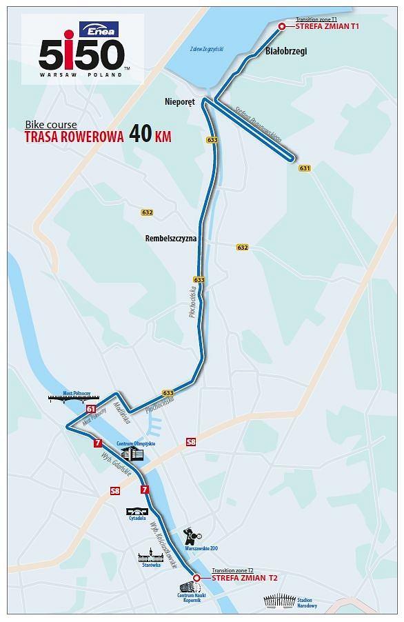 Trasa rowerowa triathlonu