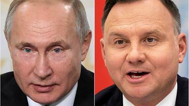 Władimir Putin i Andrzej Duda