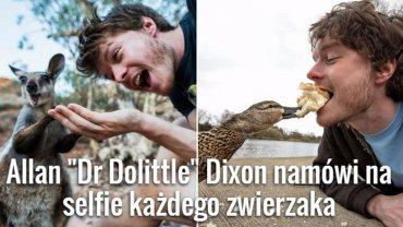 Allan Dixon i dzikie zwierzęta, które uwielbiają robić sobie z nim selfe