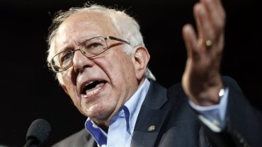 Bernie Sanders na wiecu wyborczym w Portland 6lipca.