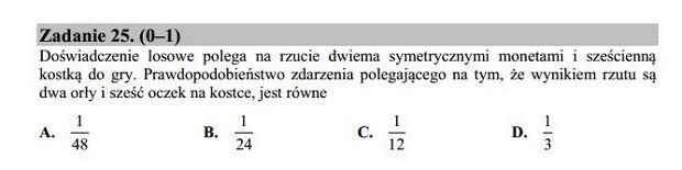 Matura poprawkowa 2016 matematyka, Zad. 25