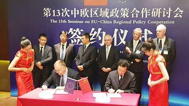 Podpisanie memorandum pomiędzy przedstawicielami PKP Cargo a władzami Zhengzhou