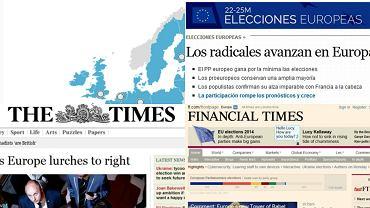 Zachodnie media o eurowyborach: Eurosceptycy szturmują Brukselę