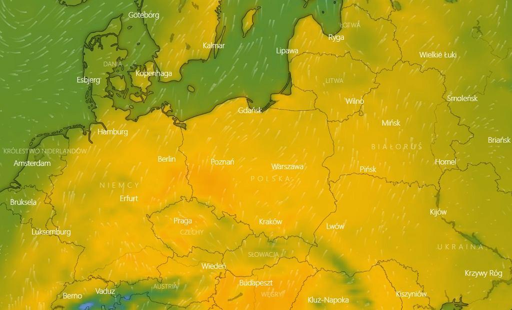 Pogoda w Polsce. W czwartek 1 kwietnia w zachodniej części kraju ma być do 23-25 stopni Celsjusza.