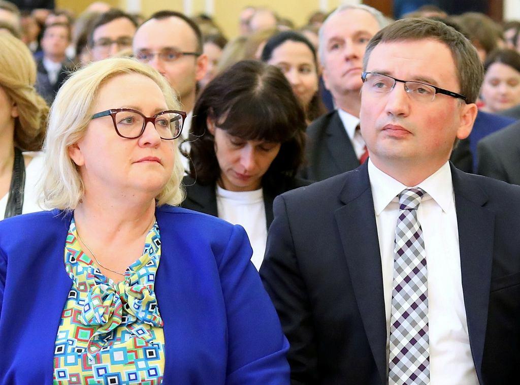 Małgorzata Manowska i Zbigniew Ziobro