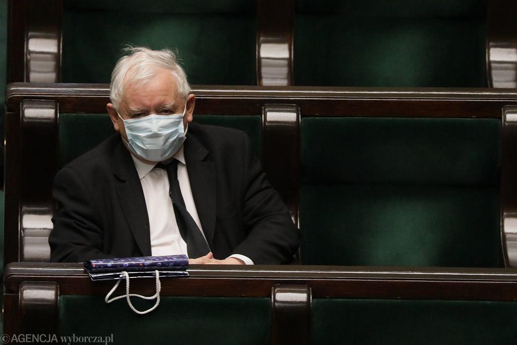 Jarosław Kaczyński podczas posiedzenia Sejmu IX kadencji