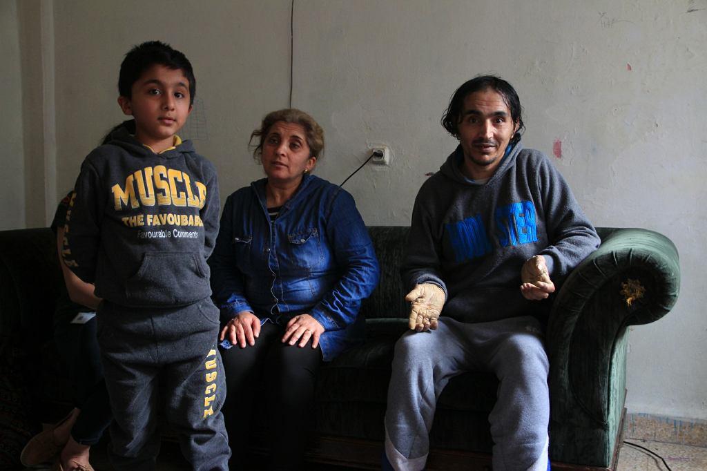 Abidel wraz z żoną i synkiem