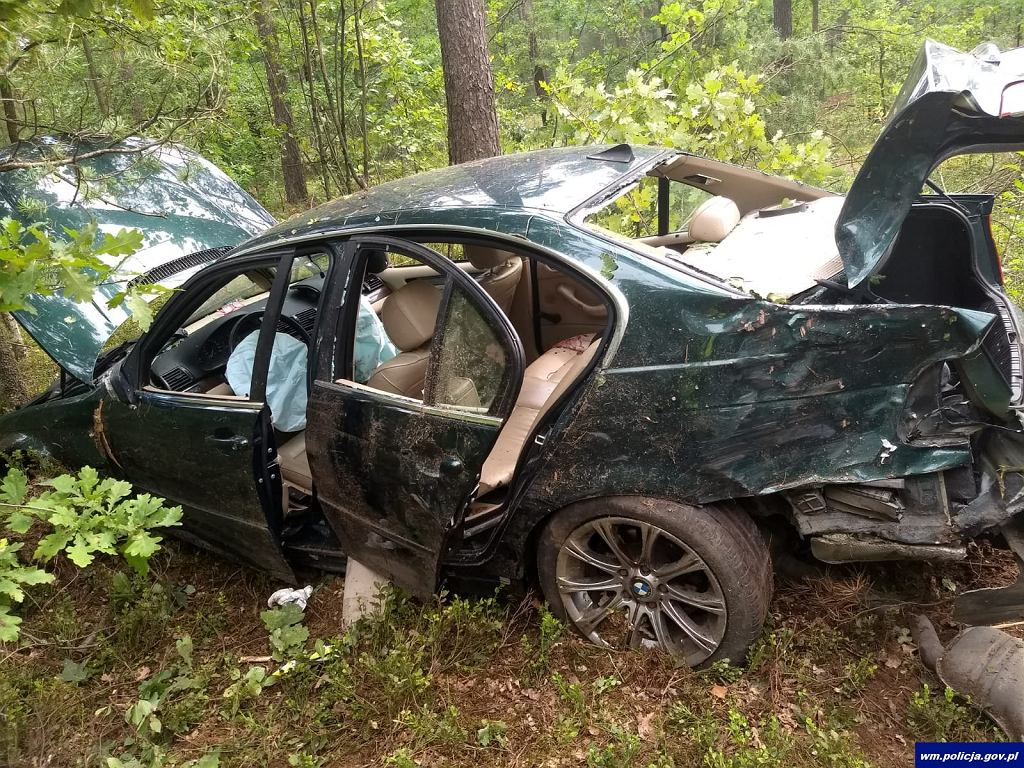 Rozbite BMW