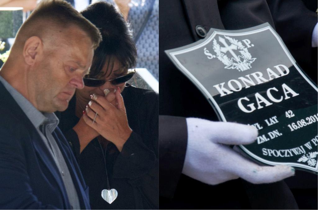Iwona Pavlović na pogrzebie Konrada Gacy