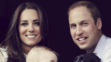 Książę George, książę William, księżna Kate, pies Lupo