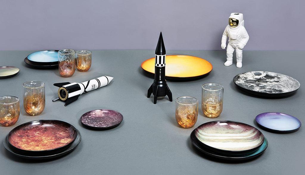 Porcelana Cosmic Diner, która jest inspirowana kosmosem.