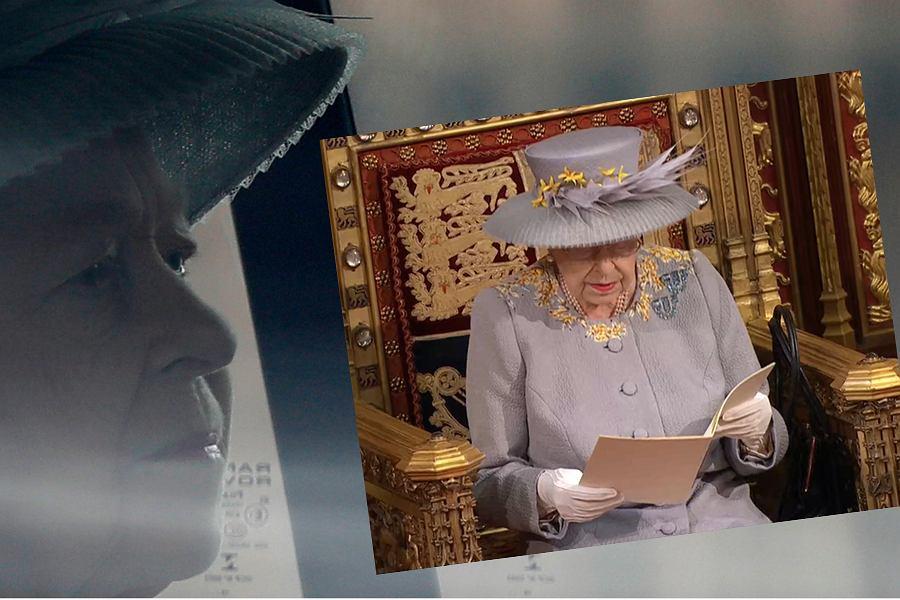 Królowa Elżbieta II podczas wystapienia w parlamencie