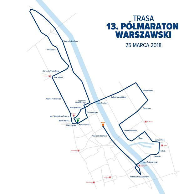 Trasa 13. Półmaraton Warszawski