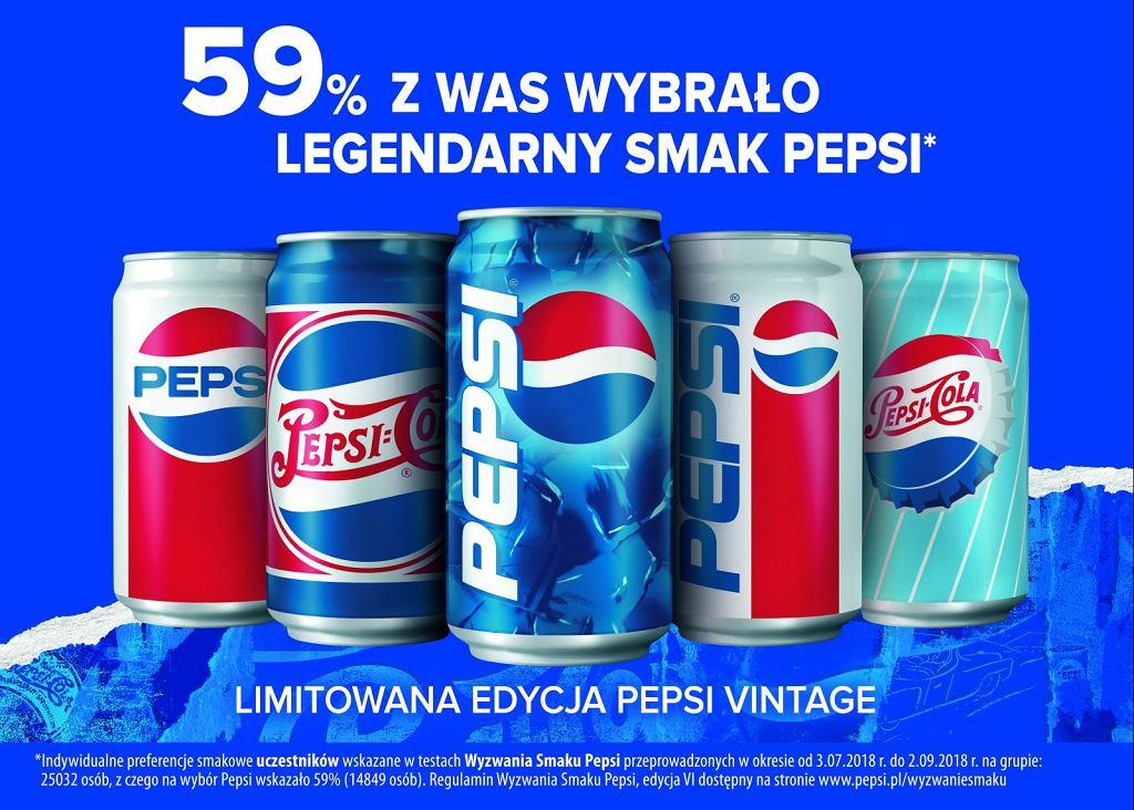 Dziękujemy za wybór legendarnego smaku Pepsi podczas wyzwania smaku 2018 - szukaj legendarnego smaku Pepsi w opakowaniach vintage