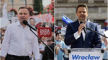 Wybory prezydenckie 2020. Andrzej Duda i Rafał Trzaskowski