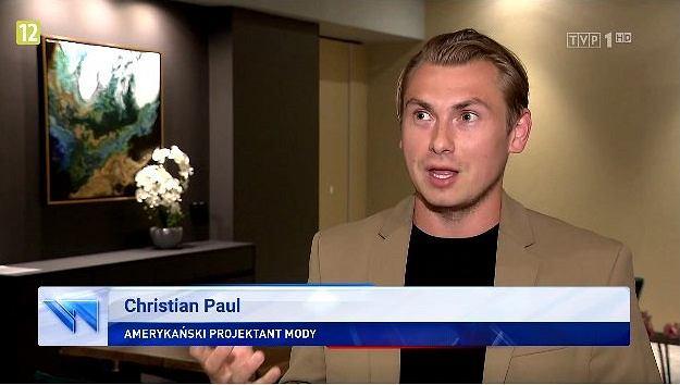 Amerykański projektant mody Christian Paul (fot. Twitter/@MichalSzczerba)