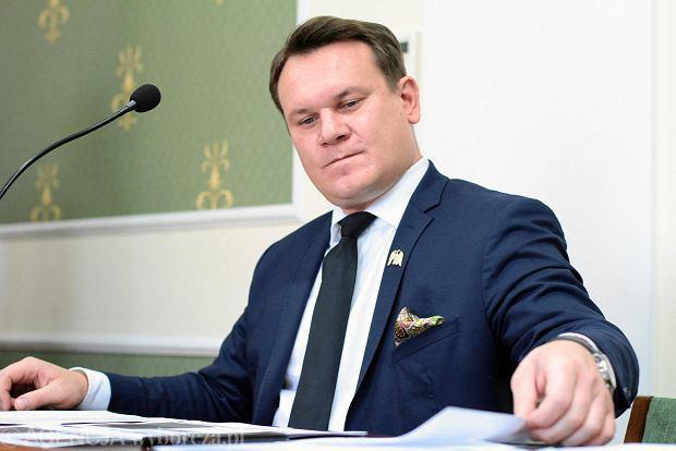Kielce, 28 września 2018 roku,  Sąd Okręgowy w Kielcach. Proces wyborczy Bogdan Wenta przeciwko Dominik Tarczyński (NZ)