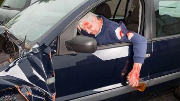 Pijany kierowca - ofiara wypadku