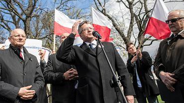 Prezydent Bronisław Komorowski na spotkaniu z wyborcami w Lublinie