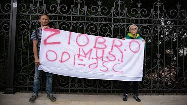 Konferencja prasowa Stowarzyszenia Sędziów Polskich IUSTITIA pod Ministerstwem Sprawiedliwości