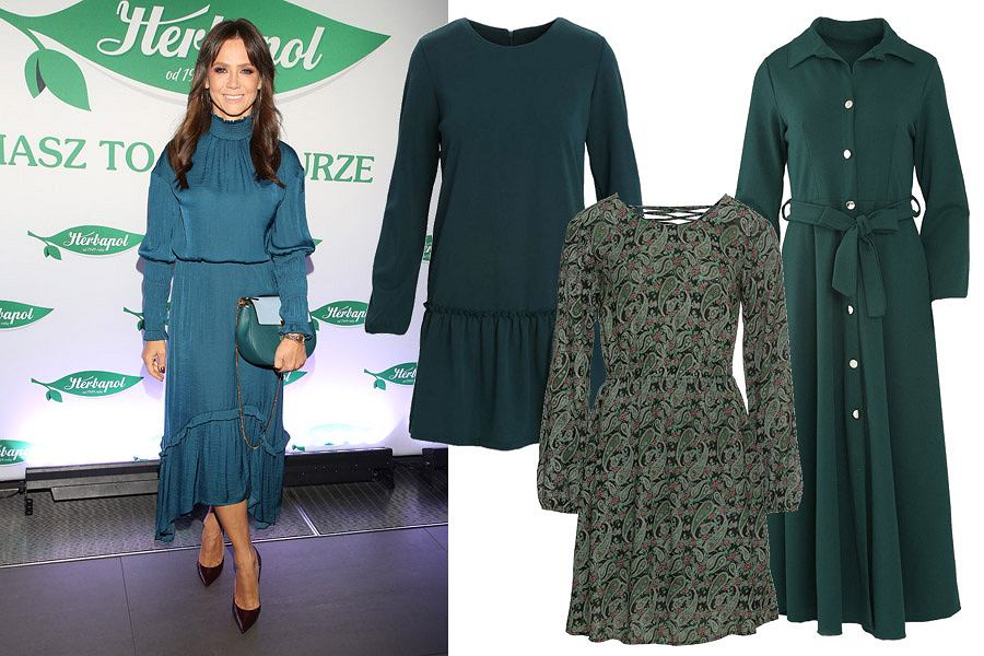 zielone sukienki/mat. partnera