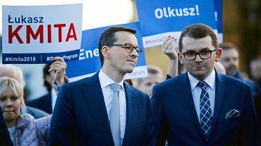 Premier Mateusz Morawiecki w Olkuszu wsparł Łukasza Kmitę.